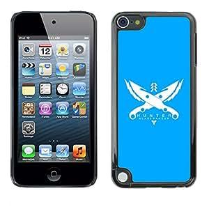 Caucho caso de Shell duro de la cubierta de accesorios de protección BY RAYDREAMMM - Apple iPod Touch 5 - Cazador