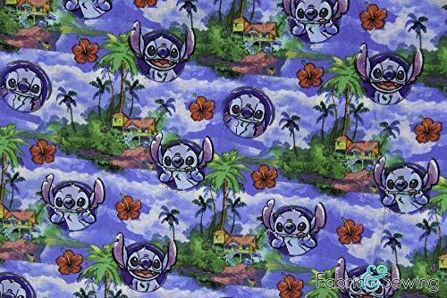 Lilo and Stitch Hawaiian Licensed Sheeting Fabric Cotton 4 Oz 44-45