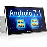 10.1 inch Android 7.1 Car Stereo Double Din, 32GB+ 2GB Radio with Bluetooth, GPS Navigation - Support Fastboot, WIFI, USB SD, MirrorLink, Backup camera, AUX, Dash Cam