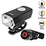BV Aluminum Alloy Waterproof LED Bike Light, Bicycle USB Rechargeable LED Safety Cycling Lights, Super Bright Headlight, Free Red LED Taillight