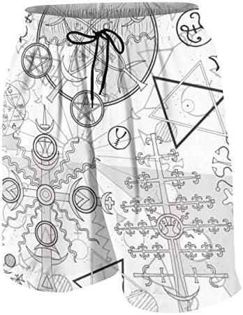 キッズ ビーチパンツ 数学 幾何学 サーフパンツ 海パン 水着 海水パンツ ショートパンツ サーフトランクス スポーツパンツ ジュニア 半ズボン ファッション 人気 おしゃれ 子供 青少年 ボーイズ 水陸両用