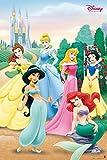 Grupo Erik GPE4142Poster Disney Princess Pose, carta, Multicolore, 91 x 61,5 x 0,1 cm