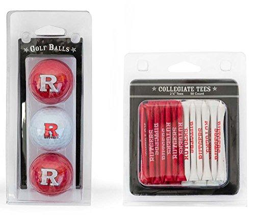 (Team Golf NCAA Rutgers Scarlet Knights Logo Imprinted Golf Balls (3 Count) & 2-3/4