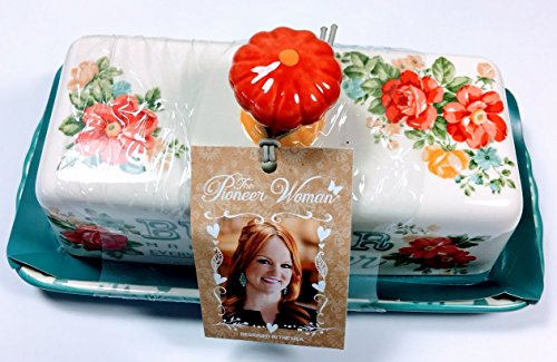 The Pioneer Woman Vintage Floral Butter Dish - Stores Mall Pioneer