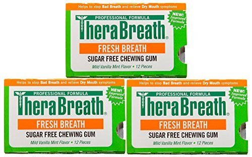 TheraBreath Fresh Breath GUM, Pack of 3