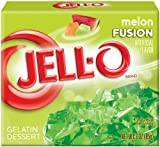 JELL-O Gelatin Dessert, Melon Fusion, 3 Ounce Boxes (Pack of 12)