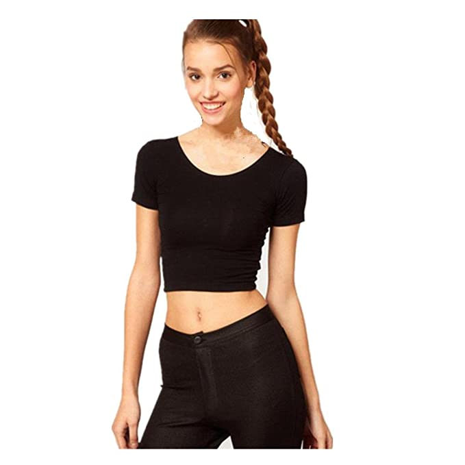 Amazon.com: DondPO Womens Short Sleeve T Shirts Sexy Women Blouse Basic Tees Tops Womens Tops Casual Blouse Summer Clothes (Black, Free): Clothing