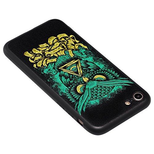 Coque iPhone 7 3D Petit diable Premium Gel TPU Souple Silicone Protection Housse Arrière Étui Pour Apple iPhone 7 + Deux cadeau