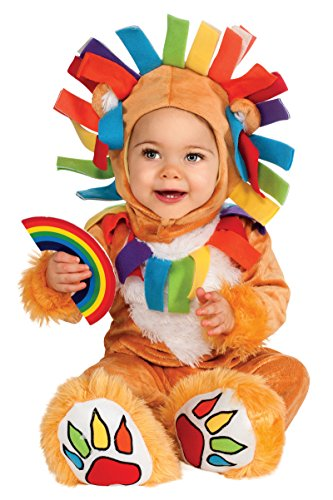Street Mime Costumes (Rubie's Costume Noah's Ark Lucky Lion Romper Costume, Tan, 6-12 Months)