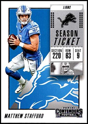 2018 Panini Contenders Season Tickets #66 Matthew Stafford Detroit Lions NFL Football Trading Card ()