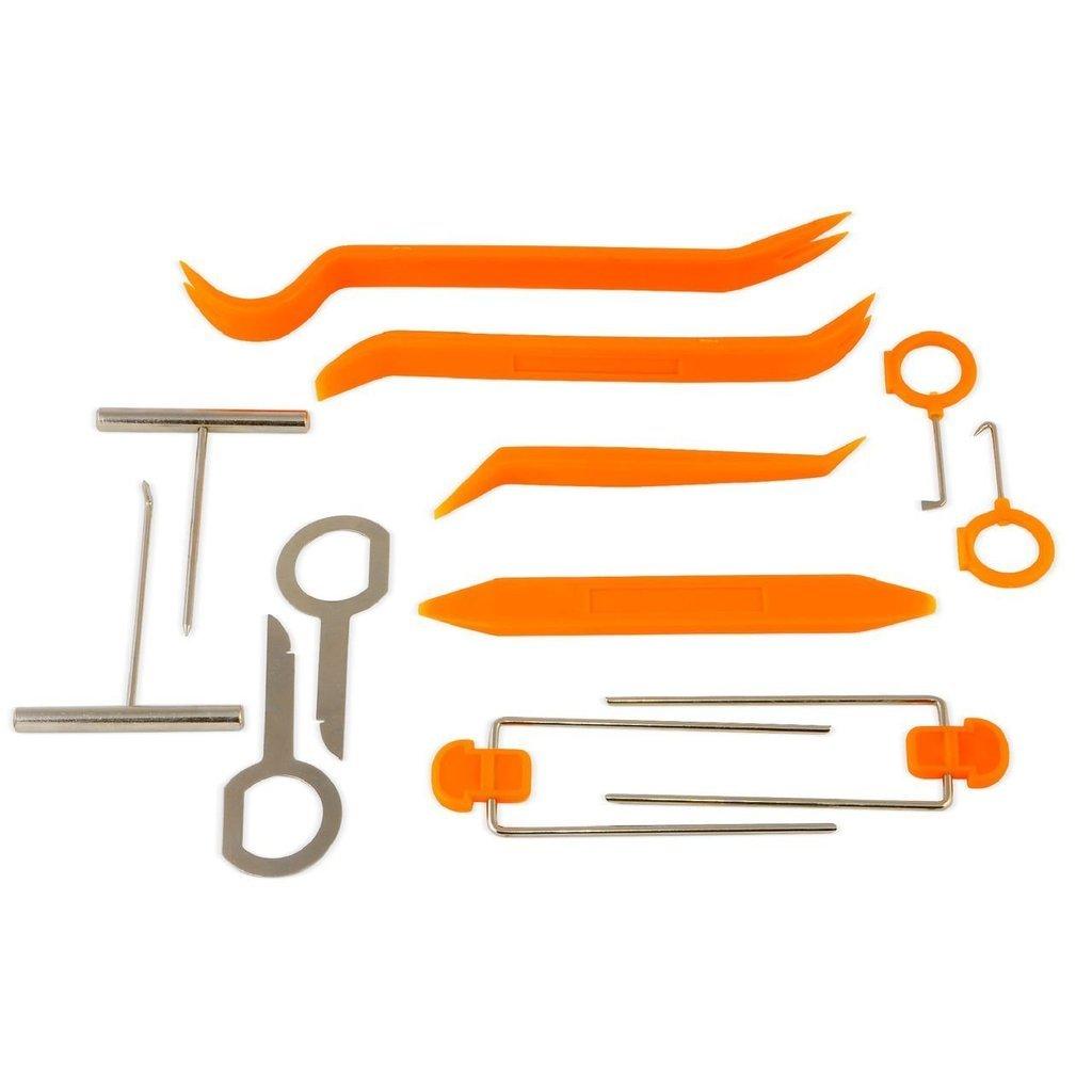 IMZ® Auto Door Clip Panel Trim Removal Tool Kits for Car Dash Radio Audio Refit Installer Pry Tool 12Pcs