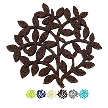 Coasters CYBER MONDAY SALE, Stylish Moisture Absorbent Saving Your Table From Water Damage, Set of 4 Tree Pattern In Chocolate