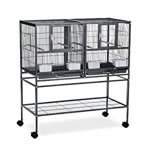Prevue Pet Products F070 Hampton Deluxe Divided Breeder Cage with Stand 18