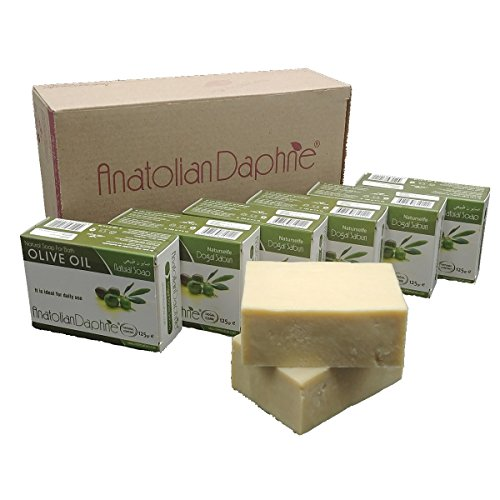 Olive Oil Soap Bar - 100% Pure Natural & Artisan Crafted Quality  (6 Bar Family Set)