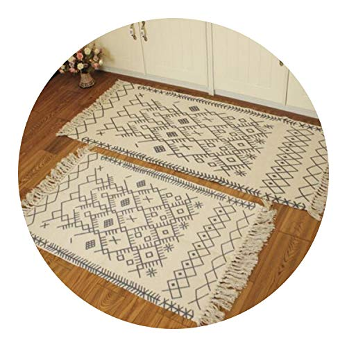 Cotton Soft Tassel Home Carpets for Living Room Bedroom Kid Room Decorate Home Carpet,3,60X130cm