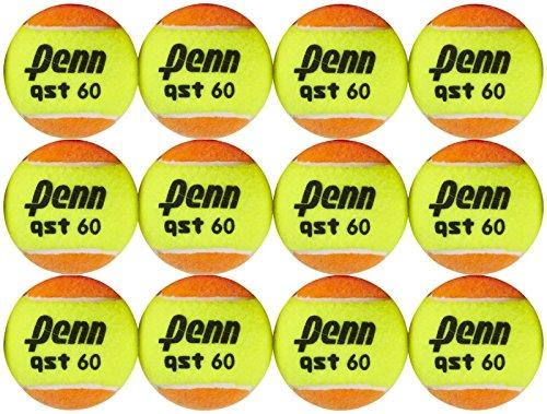 Penn QST 60 Orange Tennis Balls, 12 Ball Mesh Bag