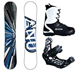 2018 Gnu Carbon Credit Asym Men's Snowboard Package (159 cmWide, Boot Size 13)
