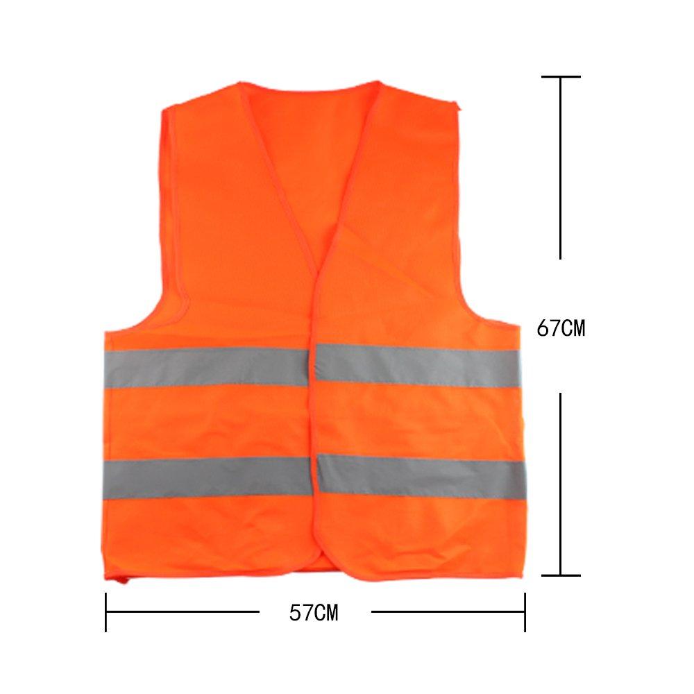 PAO MOTORING S/écurit/é s/écurit/é visibilit/é Veste r/éfl/échissante Construction trafic-Orange