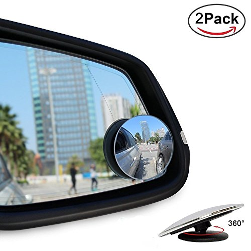 - HC&ABELE Blind Spot Mirrors, Rear View Mirror with 360° Rotatable + 30° Sway Sway Adjustable HD Glass, Round Shape, Frameless HD Glass Convex Wide Angle Mirror for All Car SUV Trucks, 2 Pack