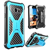 Galaxy S7 Active Case, i-Blason Prime Samsung Galaxy S7 Active 2016 Release [Heavy Duty] [Dual Layer] Holster Cover case with [Locking Belt Swivel Clip]/NOT COMPATIBLE with Galaxy S7 (Blue)
