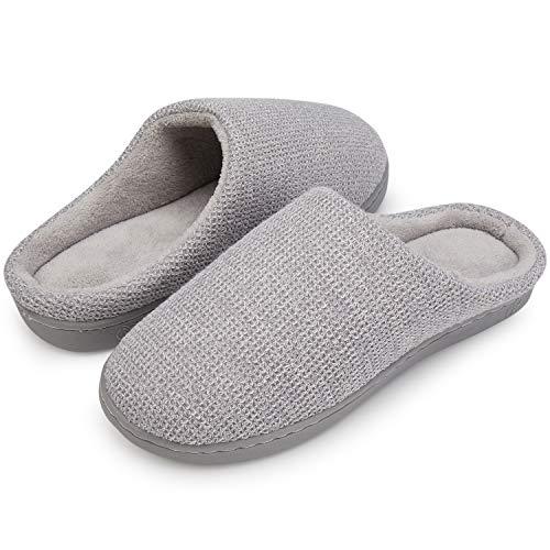 top Gris Mousse Mémoire Femmes Mule slip Dames Pantoufles Peluche Chaussons D'intérieur Chaussures Chaud Doux Léger Bas Anti En IBBTwHqz