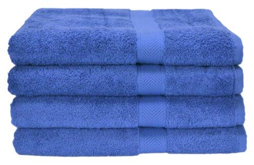 Homestead Textiles All American Cotton Line 100-Percent Pima 4-Piece Bath Towel Set, Morning Glory