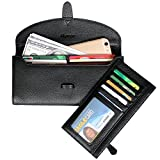 Alavor Women RFID Blocking Wallet Black Genuine Leather Ladies Strap Closure Reviews (Free Shipping Available)