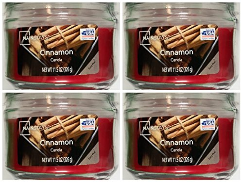 Mainstay 11.5oz Scented Candle, Cinnamon 4-Pack