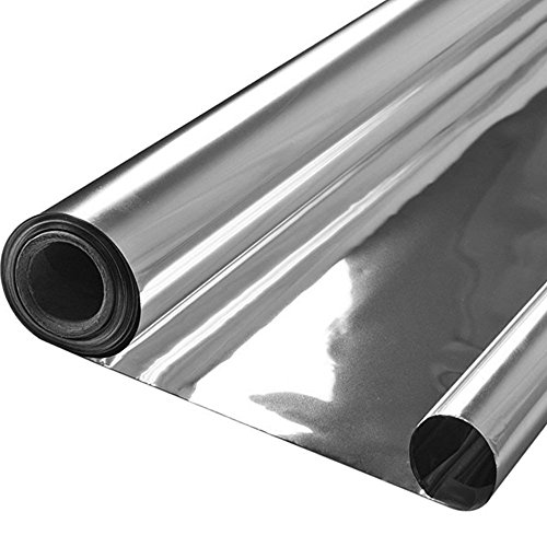 Lepilion Highly Reflective Silver Mylar Film Roll 4 FT x 100 FT 2 Mil (2 Pack) Total 800 Square Feet for Garden Greenhouse Grow Room Tent Covering Foil Sheets Maximizes Light Energy & Heat Retention -