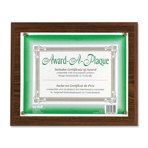 Wall Mountable Horizontal Vertical Acrylic - Nu-Dell Award-A-Plaque - 13
