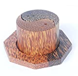 yin yang salt and pepper shakers - Wooden Salt and Pepper Shakers Set Handmade Coconut & Palm Wood Yin Yang Design