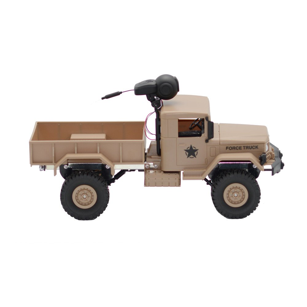 RC Military Truck Army With WIFI 720P Camera 1:16 4WD Off-Road Car RTR APP Control ,Racing Vehicles Car Toy Track Cars Toys Birthday Gift for Kids Toddlers Boys,Car Toys for 1 Year Old (Yellow) by DICPOLIA (Image #6)