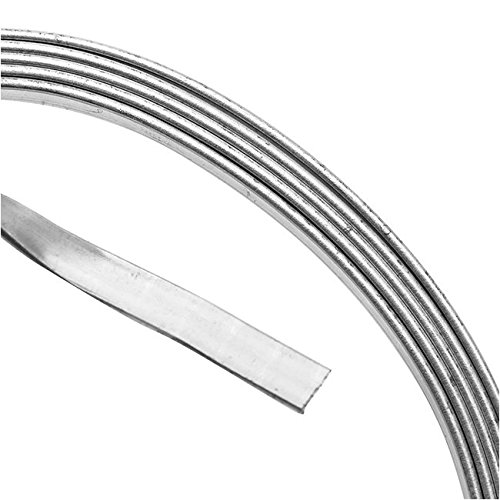 Artistic Wire Beadalon 21 Gauge Jewelry Artistic Wire/Flat Wire, 3', Tarnish Resistant Silver Plated 3' AWB-21F-S10-03F