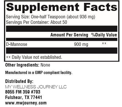 D-Mannose- Max Uritract- All- Natural Concentrated Urinary Tract Support from Cranberries/Pineapples- Pharmaceutical Grade- 50 Servings 1.66 oz (47 g)