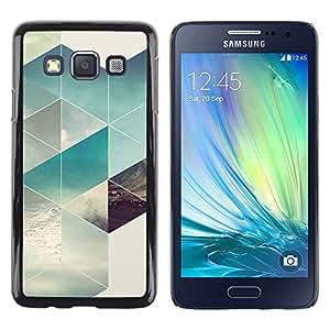 Paccase / SLIM PC / Aliminium Casa Carcasa Funda Case Cover - Polygon Surf Summer Sun Pattern - Samsung Galaxy A3 SM-A300