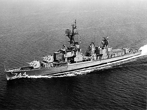 USS BLUE DD 744  Photo Canvas Print USN Navy Ship