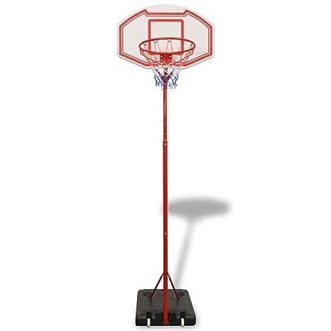 Fijo Night Baloncesto Soporte Canasta 305 cm altura regulable en ...