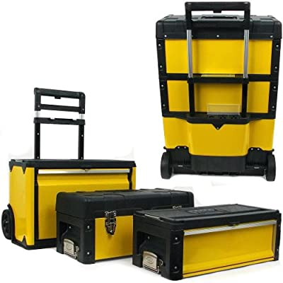 Stalwart Oversized Portable Tool Chest, Three Tool boxes in One - Toolboxes - .com
