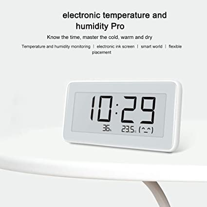 Bluetooth Luftfeuchtigkeitssensor,zur Messung von Temperatur und Luftfeuchtigkeit im Haus. VUENICEE f/ür Mijia Digitales Thermometer Hygrometer f/ür den Innenbereich