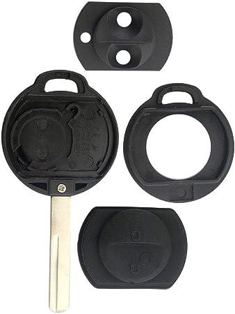 Schlüsselgehäuse Gehäuse Schlüssel Fernbedienung 2 Tasten Neu Rohling Tastenfeld Rubber Pad Auto