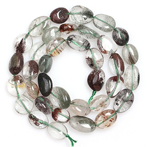 JOE FOREMAN 9x12mm Green Ghost Quartz Semi Precious Stone Freeform Potato Shape Loose Beads for Jewelry Making DIY Handmade Craft Supplies 15""