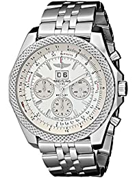 Mens BTA4436412-G679SS Bentley Analog Display Swiss Automatic Silver Watch. Breitling