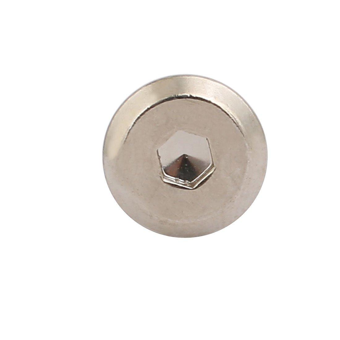 sourcingmap M8x18mm acier carbone Ins/érer vis t/ête rivet cylindre 30pcs