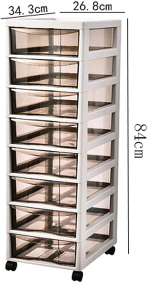 LHY SAVE Torre Cajonera Torre De Almacenamiento De Ordenación Montado sobre Ruedas,Plástico,Drawer Chest para Escuelas, Oficinas Y Juguetes Infantiles,Transparente,Multifuncional,8tier: Amazon.es: Hogar