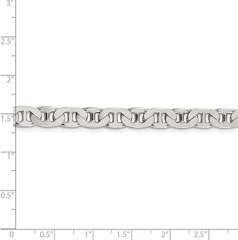 925 Sterling Silver 6.5mm Anchor Chain Necklace 22inch