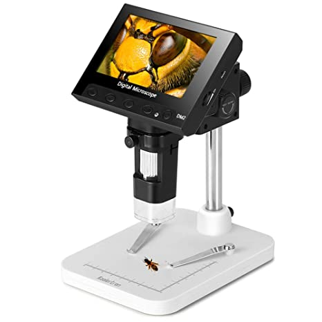 Amazon.com: Koolertron - Microscopio digital de 4,3 pulgadas ...
