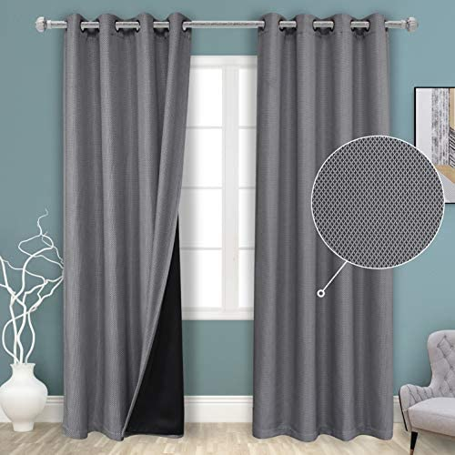 BONZER Grey Blackout Curtain