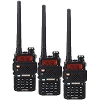BaoFeng BF-UV5R 1.5 LCD 5W 400-470MHz 16-CH Handheld Walkie Talkies Black(Pack of 3)