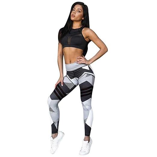 0e76590296ead DMZing Women Patchwork Mid Waist Yoga Pants Gym Workout Running Leggings  Elastic Fitness Tigthts Full-