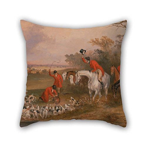beeyoo Throw Cushion Covers 18 X 18 inches / 45 by 45 cm(Both Sides) Nice Choice for Living Room Bench Wife Boys Teens Home Theater Oil Painting Francis Calcraft Turner - Bachelor's Hall- The Death for $<!--$9.99-->